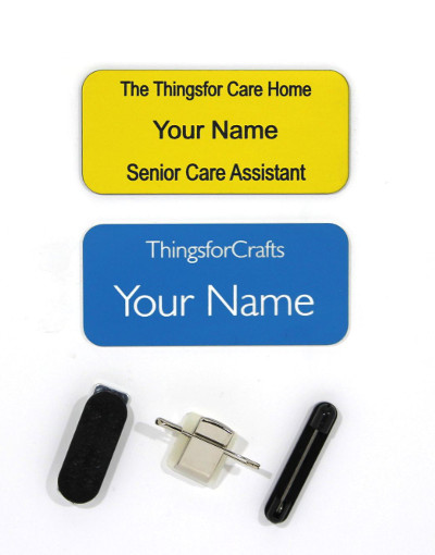 Personalised Name Badge Large Rectangle 75mm x 35mm